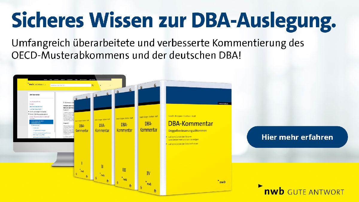 Erscheinung der 46. Auflage des DBA Kommentars